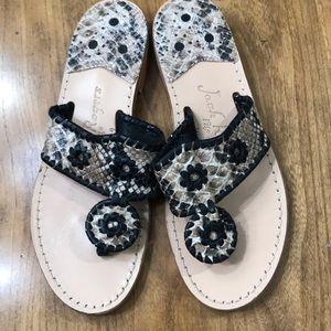 Jack Rogers Snake Print Sandals